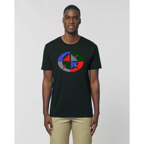"Camiseta Hombre ""4 vientos"" negra"