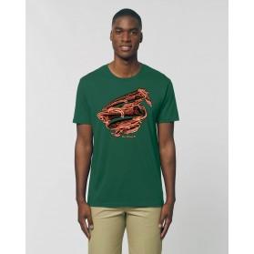 """Camiseta Hombre """"Anubis"""" verde botella"""