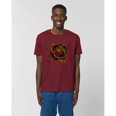 """Camiseta Hombre """"Atomic"""" burdeos"""