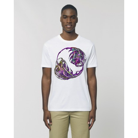 "Camiseta Hombre ""Bien vs Mal"" blanca"