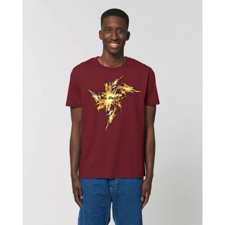 """Camiseta Hombre """"Big Bang"""" Burdeos"""