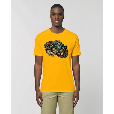 """Camiseta Hombre """"Caos"""" amarillo spectra"""