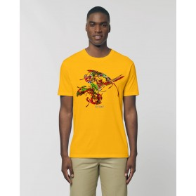 "Camiseta The Origen Hombre ""Longevo"" Amarillo Spectral"