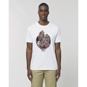 """Camiseta Hombre """"Corazón Oscuro"""" Blanca"""