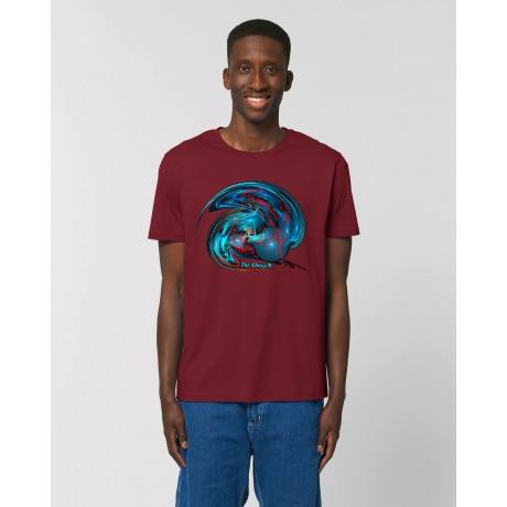 """Camiseta Hombre """"Distorsión"""" Burdeos"""
