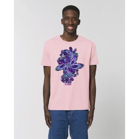 "Camiseta Hombre ""Eclosión"" rosa"