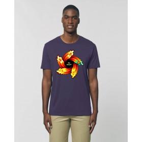 """Camiseta Hombre """"Espiral"""" morada"""