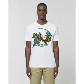 """Camiseta Hombre """"Evolución"""" blanca"""
