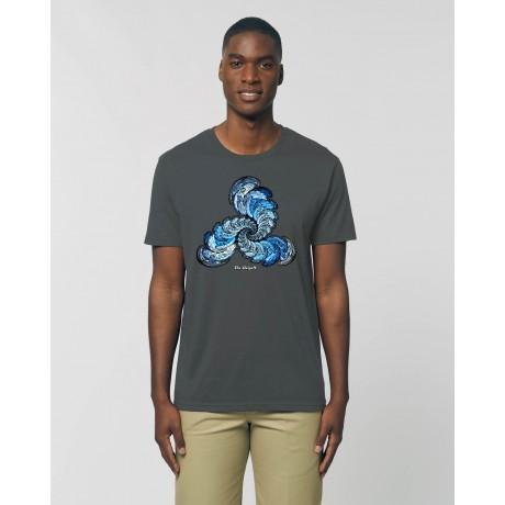 """Camiseta Hombre """"Expansión"""" antracita"""