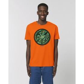 "Camiseta Hombre ""Eyes"" naranja"