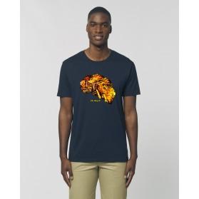 """Camiseta Hombre """"Fósil"""" navy"""