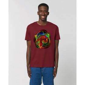 "Camiseta Hombre ""Mandala"" burdeos"