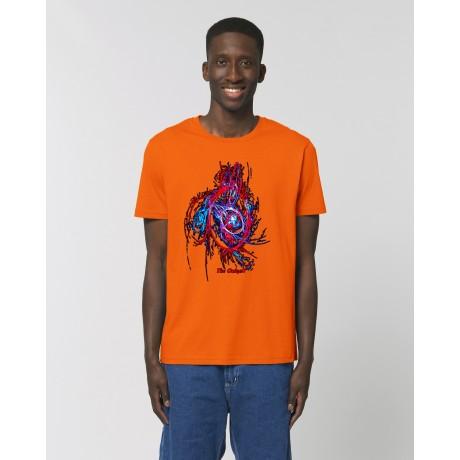 "Camiseta Hombre ""Mutación"" naranja"