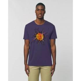 """Camiseta Hombre """"Neutrino"""" morada"""