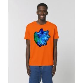 """Camiseta Hombre """"Pilares de la creación"""" naranja"""