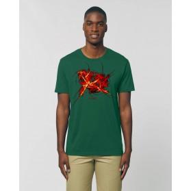 """Camiseta Hombre """"Redención"""" verde botella"""