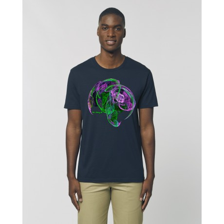 """Camiseta Hombre """"Reflexión"""" navy"""