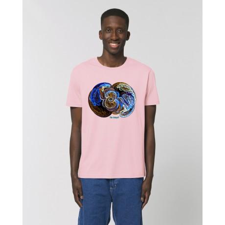 """Camiseta Hombre """"Signos"""" rosa"""