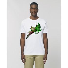 "Camiseta Hombre ""Genio"" blanca"