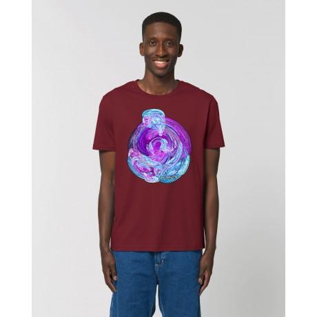 """Camiseta """"Imaginación"""" burdeos"""