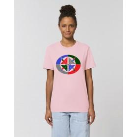 """Camiseta Mujer """"4 vientos"""" rosa"""