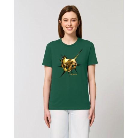 """Camiseta Mujer """"Absolut"""" verde botella"""