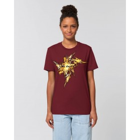 "Camiseta Mujer ""Big Bang"" burdeos"