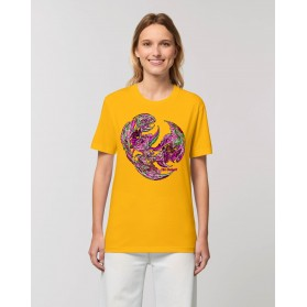 "Camiseta Mujer ""Despertar de los Tiempos"" amarillo spectra"