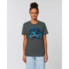 """Camiseta Mujer """"Distorsión"""" antracita"""