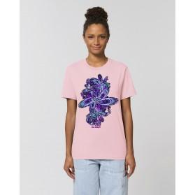 "Camiseta Mujer ""Eclosión"" rosa"