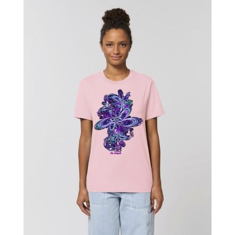 """Camiseta Mujer """"Eclosión"""" rosa"""