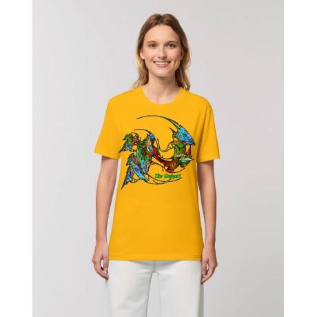 """Camiseta Mujer """"Evolución"""" amarillo spectra"""
