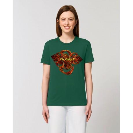 """Camiseta Mujer """"Fusión"""" verde botella"""
