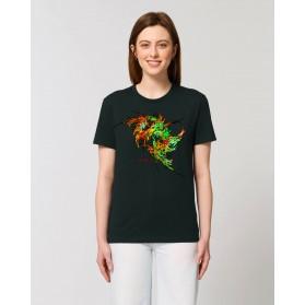 """Camiseta Mujer """"Hada"""" negra"""