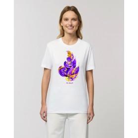 """Camiseta Mujer """"Hoja"""" blanca"""