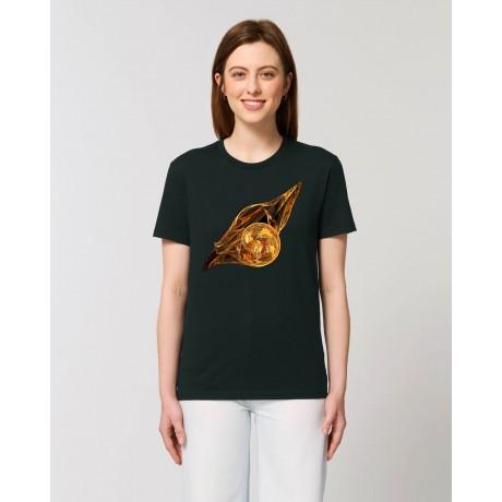 "Camiseta Mujer ""La luz del alba"" negra"