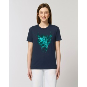 "Camiseta Mujer ""Latir"" navy"