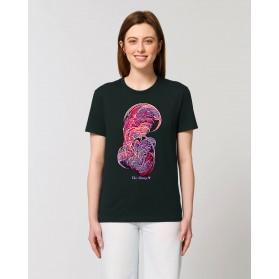 """Camiseta Mujer """"Loto Negro"""" negra"""