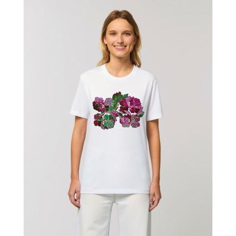"Camiseta Mujer "" Nice Unum"" blanca"