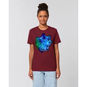 """Camiseta Mujer """"Pilares de la Creación"""" burdeos"""