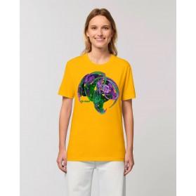 """Camiseta Mujer """"Reflexión"""" amarillo spectra"""