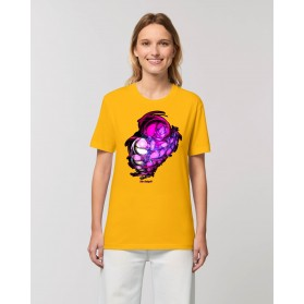 Camiseta Genoma Mujer amarillo spectra
