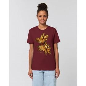 """Camiseta The Origen """"Gold"""" Mujer burdeos"""