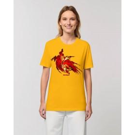"""Camisetas The Origen Mujer """"Lirio de Fuego"""" amarillo spectra"""