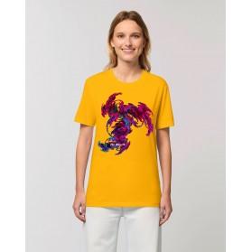 """Camiseta mujer """"Danzarín"""" amarillo spectra"""