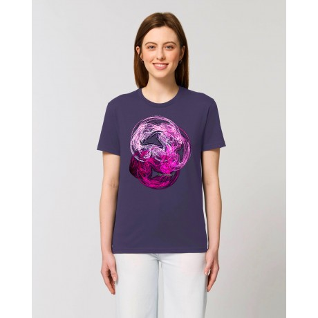 "Camiseta mujer ""Codicia"" morada"