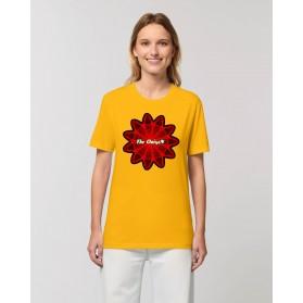 "Camiseta mujer ""Virus"" amarillo spectra"