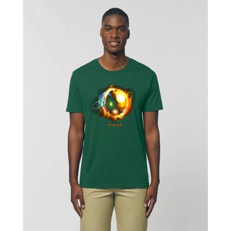"Camiseta Hombre ""Universos"" verde botella"