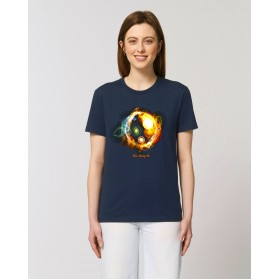 "Camiseta Mujer "" Universos"" navy"
