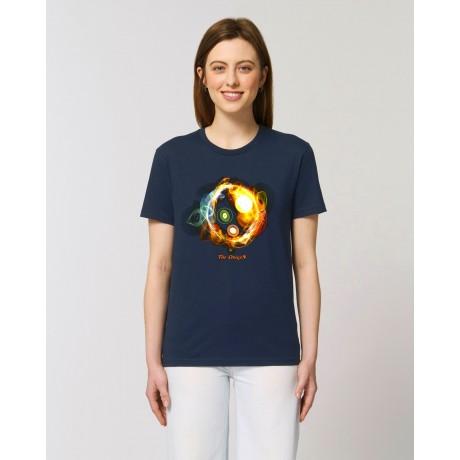 "Camiseta Mujer "" Universos"" navy"